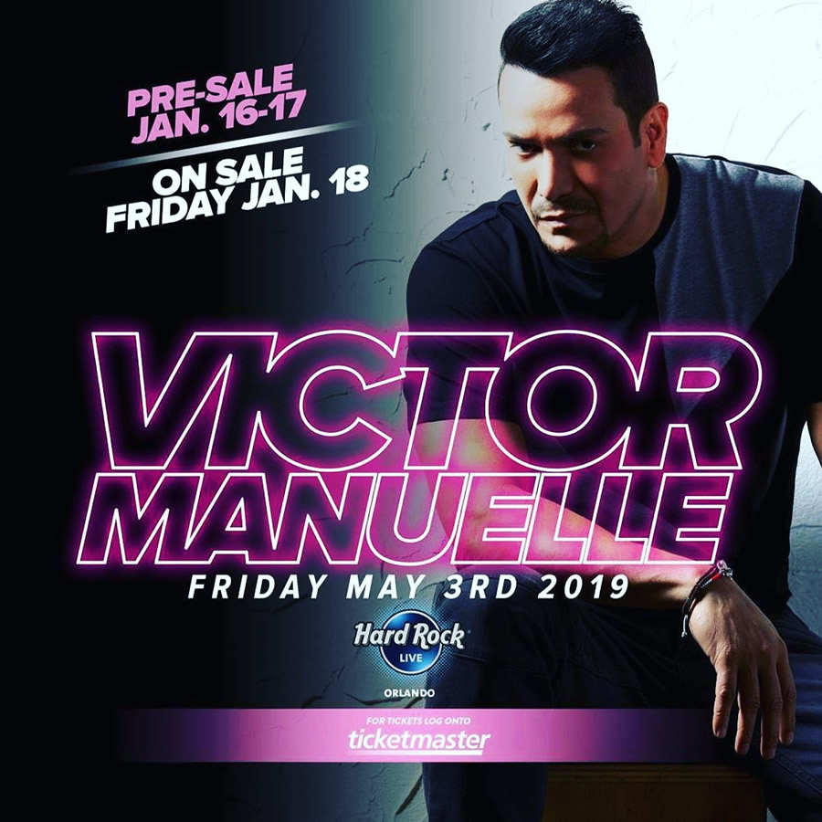 Victor Manuelle at Hard Rock Cafe Orlando May 3rd 2019