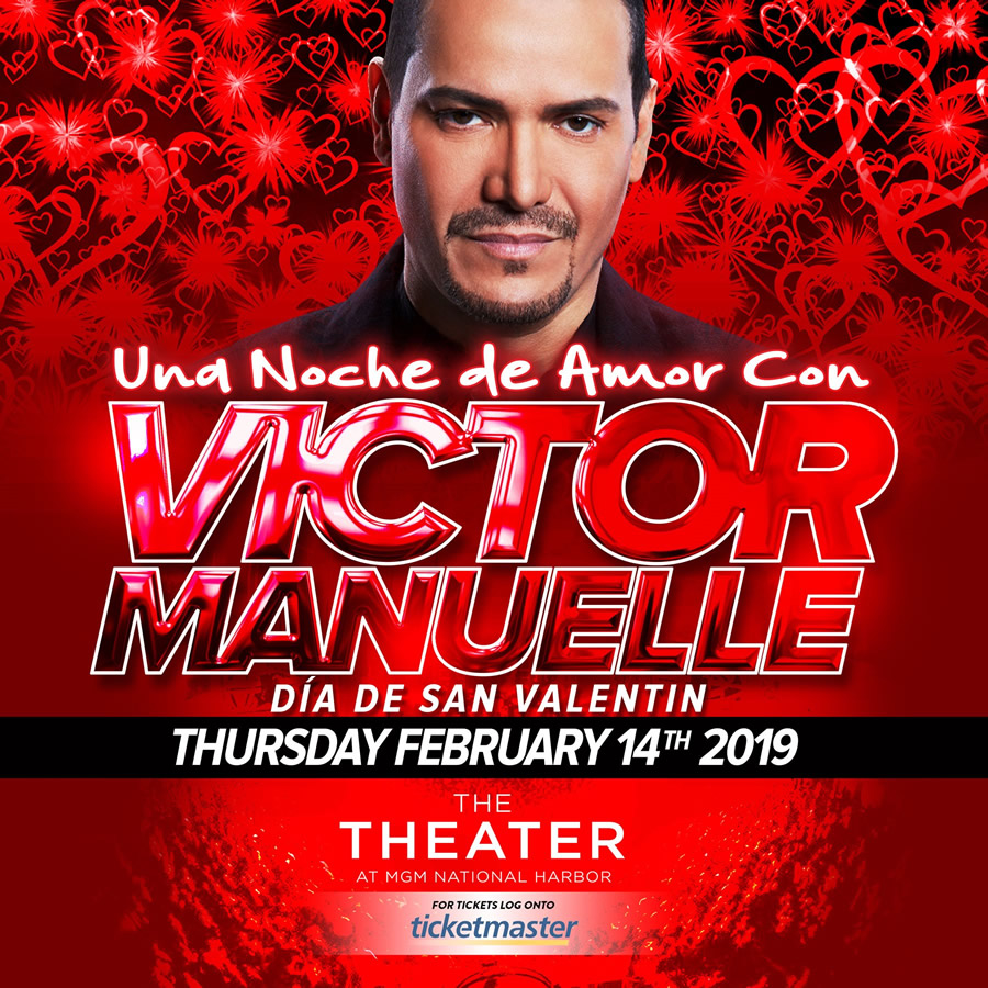 Victor Manuelle, 2/14/19 at The Theater at MGM National Harbor